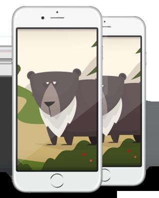 smartphones-uerberlappend-ohne-hintergrund